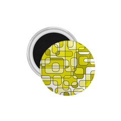 Yellow decorative abstraction 1.75  Magnets