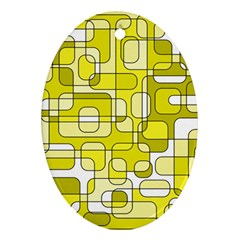 Yellow decorative abstraction Ornament (Oval)