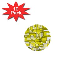 Yellow decorative abstraction 1  Mini Buttons (10 pack)