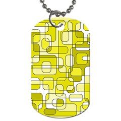 Yellow decorative abstraction Dog Tag (One Side)