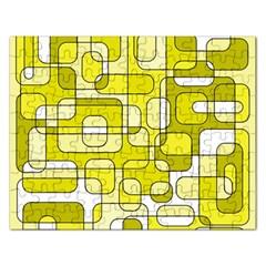Yellow decorative abstraction Rectangular Jigsaw Puzzl