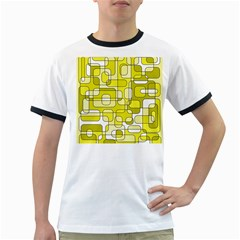 Yellow decorative abstraction Ringer T-Shirts