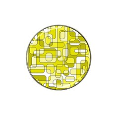 Yellow decorative abstraction Hat Clip Ball Marker (10 pack)