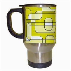 Yellow decorative abstraction Travel Mugs (White)