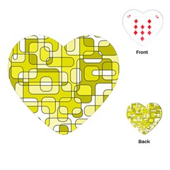 Yellow decorative abstraction Playing Cards (Heart)