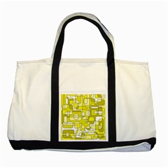 Yellow Decorative Abstraction Two Tone Tote Bag