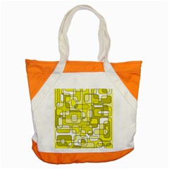 Yellow Decorative Abstraction Accent Tote Bag