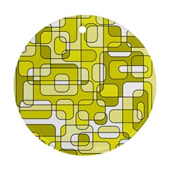 Yellow decorative abstraction Round Ornament (Two Sides)