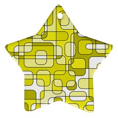 Yellow decorative abstraction Star Ornament (Two Sides)
