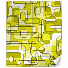 Yellow decorative abstraction Canvas 8  x 10
