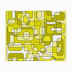 Yellow decorative abstraction Small Glasses Cloth (2-Side)