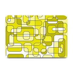 Yellow decorative abstraction Plate Mats