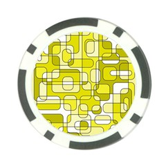 Yellow decorative abstraction Poker Chip Card Guards