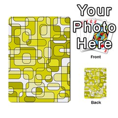 Yellow decorative abstraction Multi-purpose Cards (Rectangle)