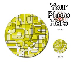 Yellow decorative abstraction Multi-purpose Cards (Round)