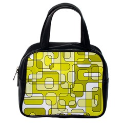 Yellow decorative abstraction Classic Handbags (One Side)