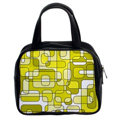 Yellow decorative abstraction Classic Handbags (2 Sides)