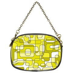 Yellow decorative abstraction Chain Purses (One Side)