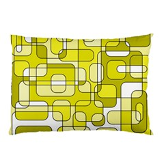 Yellow decorative abstraction Pillow Case