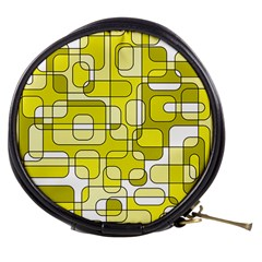 Yellow decorative abstraction Mini Makeup Bags