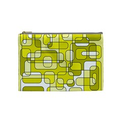 Yellow decorative abstraction Cosmetic Bag (Medium)