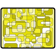 Yellow decorative abstraction Fleece Blanket (Large)