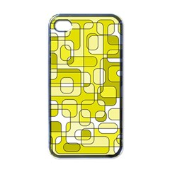 Yellow decorative abstraction Apple iPhone 4 Case (Black)