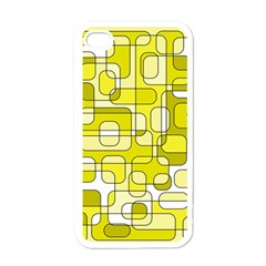 Yellow decorative abstraction Apple iPhone 4 Case (White)