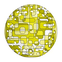 Yellow Decorative Abstraction Ornament (round Filigree)