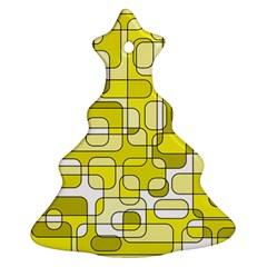 Yellow Decorative Abstraction Ornament (christmas Tree)