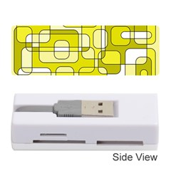 Yellow Decorative Abstraction Memory Card Reader (stick)