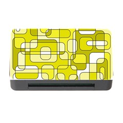 Yellow decorative abstraction Memory Card Reader with CF