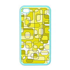 Yellow decorative abstraction Apple iPhone 4 Case (Color)