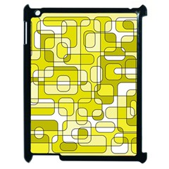 Yellow decorative abstraction Apple iPad 2 Case (Black)
