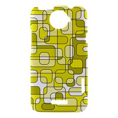 Yellow decorative abstraction HTC One X Hardshell Case
