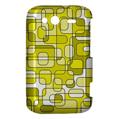Yellow decorative abstraction HTC Wildfire S A510e Hardshell Case