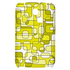 Yellow decorative abstraction Samsung S3350 Hardshell Case