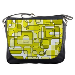 Yellow decorative abstraction Messenger Bags