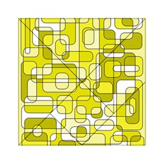 Yellow decorative abstraction Acrylic Tangram Puzzle (6  x 6 )