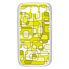 Yellow decorative abstraction Samsung Galaxy S III Case (White)