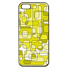 Yellow decorative abstraction Apple iPhone 5 Seamless Case (Black)