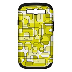Yellow decorative abstraction Samsung Galaxy S III Hardshell Case (PC+Silicone)