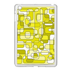 Yellow decorative abstraction Apple iPad Mini Case (White)