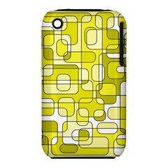 Yellow decorative abstraction Apple iPhone 3G/3GS Hardshell Case (PC+Silicone)
