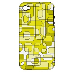 Yellow decorative abstraction Apple iPhone 4/4S Hardshell Case (PC+Silicone)