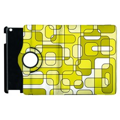 Yellow decorative abstraction Apple iPad 2 Flip 360 Case