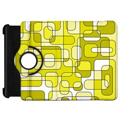 Yellow decorative abstraction Kindle Fire HD Flip 360 Case