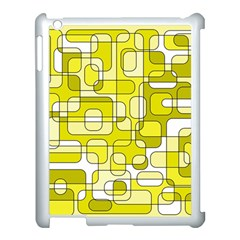 Yellow decorative abstraction Apple iPad 3/4 Case (White)