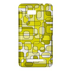 Yellow decorative abstraction HTC One SU T528W Hardshell Case