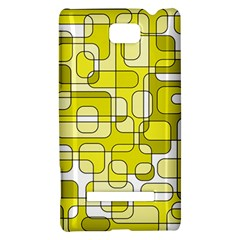 Yellow decorative abstraction HTC 8S Hardshell Case